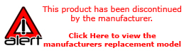 This product has been discontinued by the manufacturer. Click here to view the maufacturers replacement model.