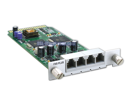 DrayTek 4 Port FXS Plus Module Card