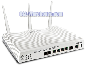 DrayTek Vigor 2830Vn-plus Wireless Gigabit LAN/WAN ADSL2+ Firewall