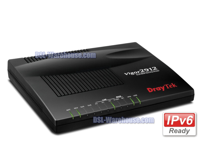 DrayTek Vigor 2912 Dual WAN Broadband Security Router w/Firewall