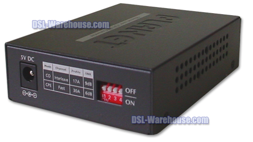 Planet Technology VC-231 Ethernet over VDSL2 Converter back view