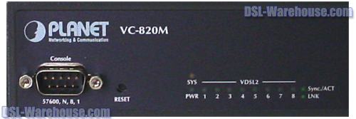 Planet Technology VC-820M 8-Port VDSL2 Managed CO Switch close-up front view #1