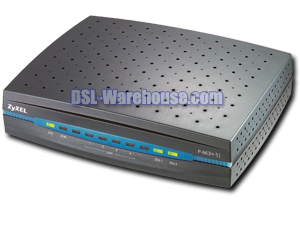 ZyXEL P-663H-51 ADSL2+ 4-Port Annex L/M Bonding Router